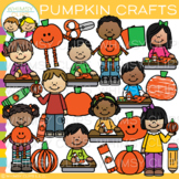 School Pumpkin Crafts Clip Art {Whimsy Clips Fall Clip Art}