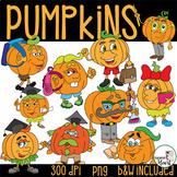 Pumpkins Clip Art: School Buddies
