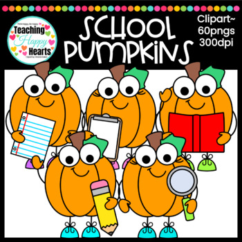 School Pumpkins Clipart