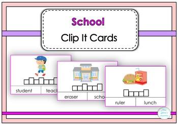 School Clip It Cards