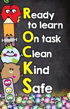 School ROCKS - Classroom Management Poster 11x17