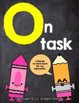 School ROCKS Classroom Pledge & Signal Words - Five Posters (8.5 x 11inches)