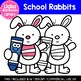 School Rabbits: Digital Clipart