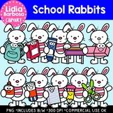School Rabbits: Digital Clipart