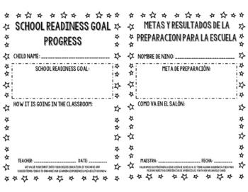 School Readiness Goal Progress Letter