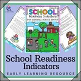 School Readiness Indicators Checklists - Preschool, Kindergarten, Autism