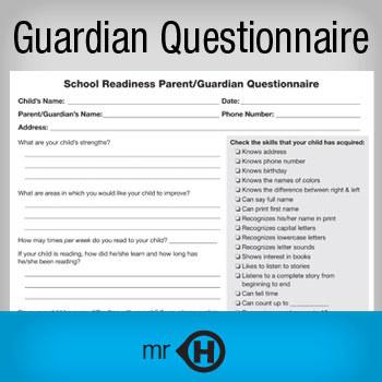 School Readiness Parent/Guardian Questionnaire