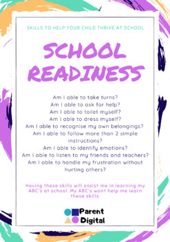 School Readiness Posters
