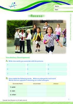 School - Recess: Something's Wrong - Grade 5