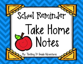 School Reminder Notes for Home