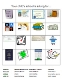 School Communication/Request Bingo - adult ESL vocabulary game