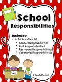 School Responsibility Anchor Charts