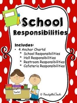 School Responsibility Anchor Charts