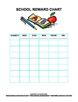 School Reward Chart