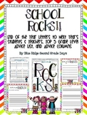 School Rocks: End of Year Letters/Activities To Next Year's Students & Teachers