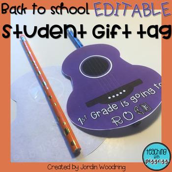 School Rocks! Student Gift Tag FREEBIE