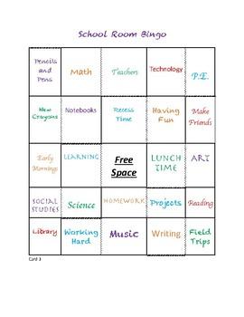 School Room Bingo Game