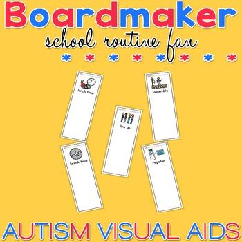 School Routine Fan - Boardmaker Visual Aids for Autism
