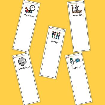 School Routine Fan - Boardmaker Visual Aids for Autism SPED