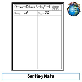 School Routines Sorting Sheets