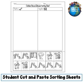 Back to School Routines Sorting Pack