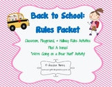 School Rules Activity Pack