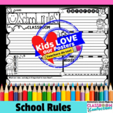 School Rules: Beginning of School Activity (to discuss rules)