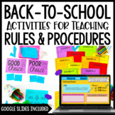Back to School Activities to Teach Procedures and Rules