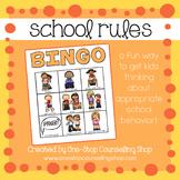 School Rules Bingo Game