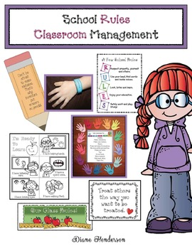 School Rules Classroom Management Packet