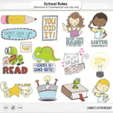 Free Clip Art   Back to School Rules, Cooperative Classroom Encouragement