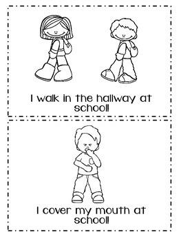 School Rules Emergent Reader