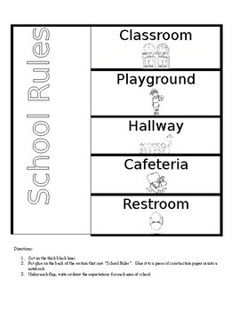 School Rules Flap Book