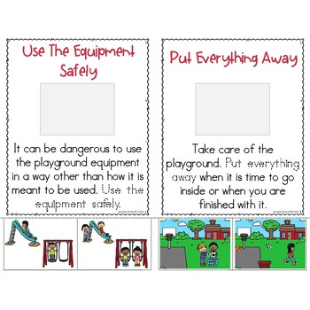 School Rules Little Book: Playground Expectations