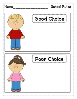 School Rules: Making Good and Poor Choices