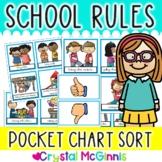 School Rules Pocket Chart Sort (Back to School Beginning o