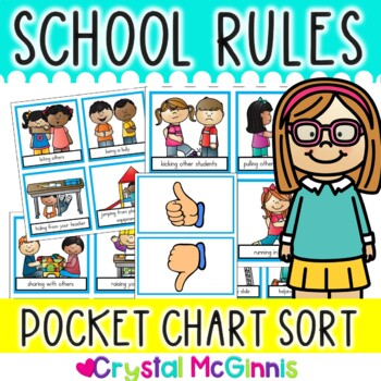 School Rules Pocket Chart Sort (Beginning of the Year Activity)