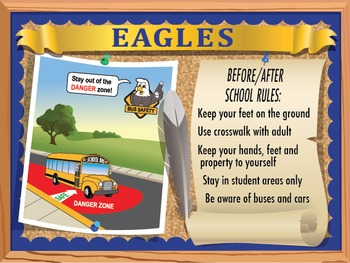 School Rules Poster Set
