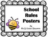 FREEBIE! School Rules Posters