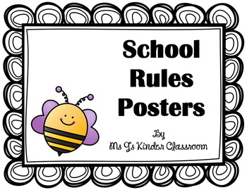 FREEBIE! School Rules Posters