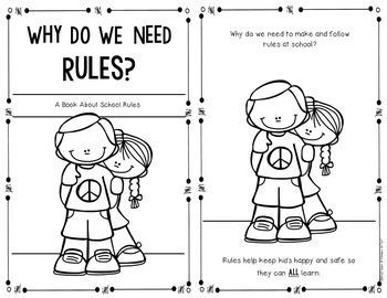 School Rules {Social Studies Reader} for First Grade & Kindergarten
