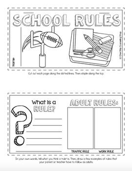 School Rules Tab Book