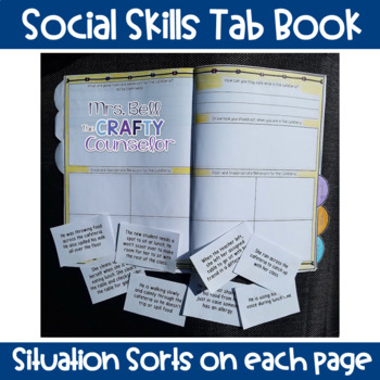 School Rules Tab Book (Social Skills) (School Norms and Rules)