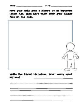 School Rules-- Worksheet by Schooling by Heart | TpT