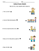 School Rules Worksheets and Assessment