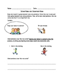 School Rules and Classroom Rules Worksheet