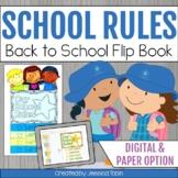 School Rules and Procedures Flip Book