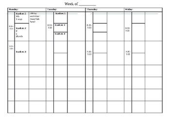 Customizable School SLP Lesson Plan