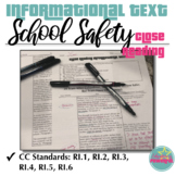 School Safety Close Reading Informational Text with Annotation and Questions