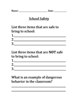 School Safety - Dos and Don'ts